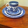 Minton Willow Pattern 1851 trio 3 dot - made in the Great Exhibition year