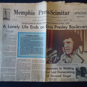 12 PAGES OF ELVIS PRESLEY FROM MEMPHIS TENN. - Paper