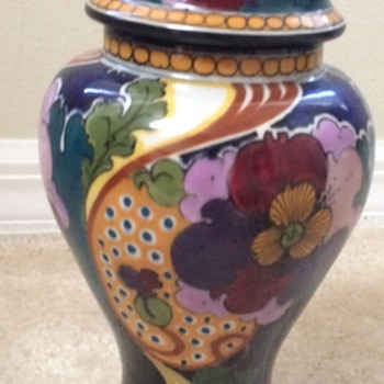 Large Gouda Covered Jar - Pottery