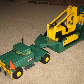 Custom-Built Nylint TRENCHER and Truck/Trailer Combination - Toys