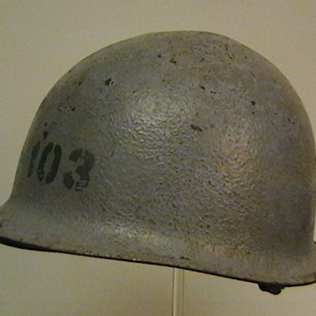 Original U.S. Navy M-1 Helmet Used in Vietnam - Military and Wartime