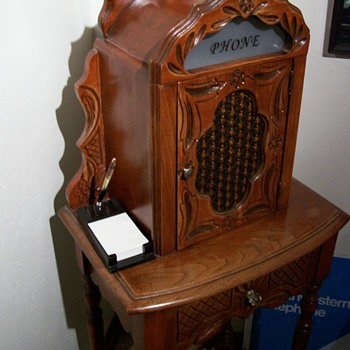 1920's Telephone table cabinet