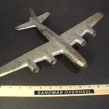 Rescued KEMLINE Pressed Steel B-29 - Toys