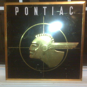 Antique Pontiac Sign
