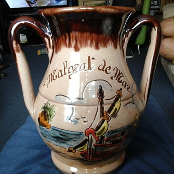 ARTFI` Redware jug