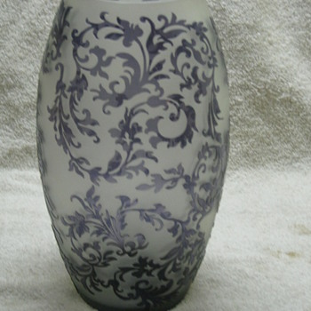 Purple Cameo Vase  - Art Glass