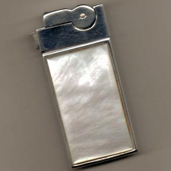 1950's - A.S.R. Ascot Lighter with MOP Case - Tobacciana