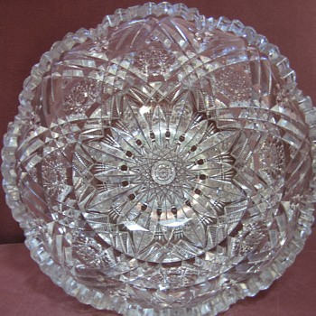 Libby American Brilliant Glass Bowl