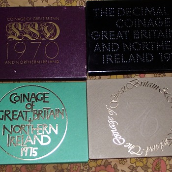 1970-76, uk coin sets-1st decimal/last sd. - World Coins
