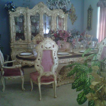Handcrafted Italian Dining Room Ensemble - Furniture