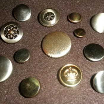 A Variety Of Antique Steel Buttons - Sewing
