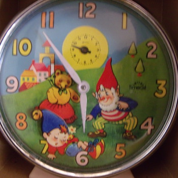 "Smith's Animated ""Noddy"" Alarm Clock Circa 1976"