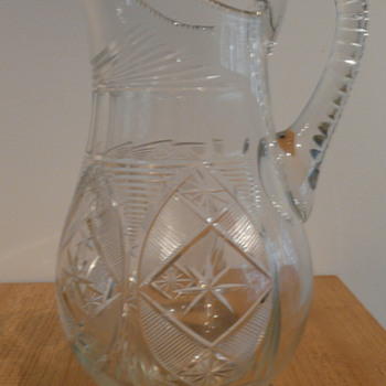 19th CENTURY CUT GLASS JUG - Glassware