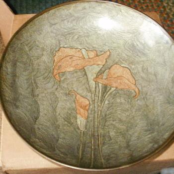 Rosenthal-Netter handpainted metal bowl - Art Nouveau