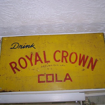 Vintage Metal R C Cola Sign - Signs