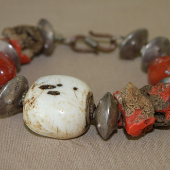 Native American Coral Bracelet  - Native American