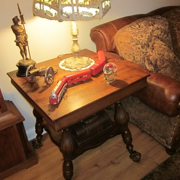 Antique Oak Ball and Claw Feet Tables - Furniture