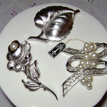 Trifari Silver Tone Brooches