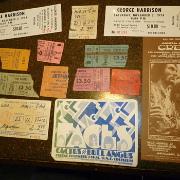 used an unused concert tickets ,handbills