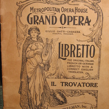 OPERA PLAYBOOK - Music Memorabilia