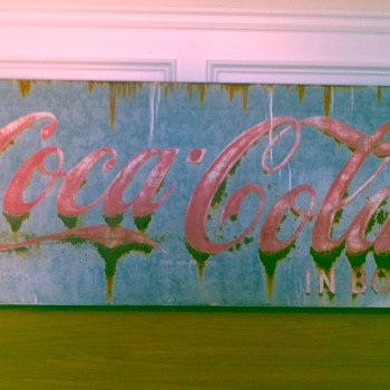 Coca Cola Sled Sign