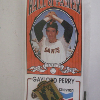 Chevrons Gaylord Perry Card - Baseball