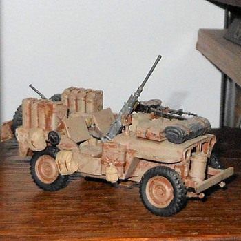Tamiya 1/35th Scale SAS Jeep Model - Model Cars