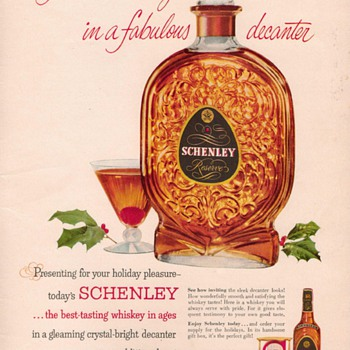 1954 Schenley Reserve Advertisement
