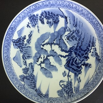 Blue White Asian plate