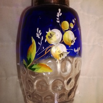 Bluina Decorated Barrel Shaker - Art Glass