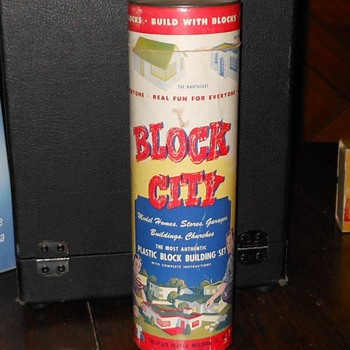 Block City Building Block Set B-300 1950s