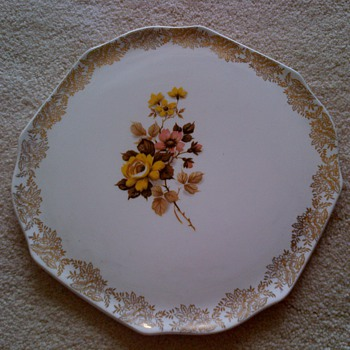 Vintage English Cake Platter - China and Dinnerware