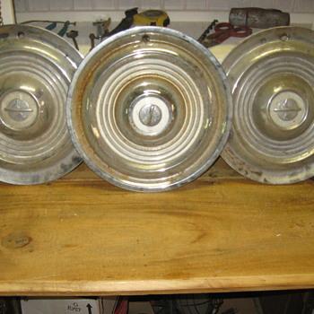 Old hub caps - Petroliana