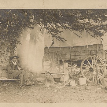 Camping in Rocky Mtns. 1912 - Postcards
