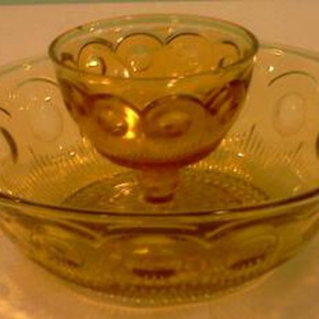 Amber Depression Glass-Maker of this pattern and timeframe?  - Glassware