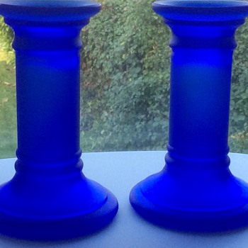 Blue candlesticks