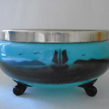 Czech Art Deco Tango Glass Bowl