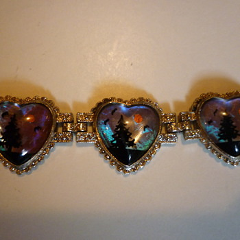 Butterfly wing bracelets and pendant. - Costume Jewelry