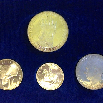 1965 Austria Anniversary 4 Coin Proof Set Vienna University - World Coins