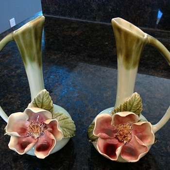 Bone china bud vases (?)