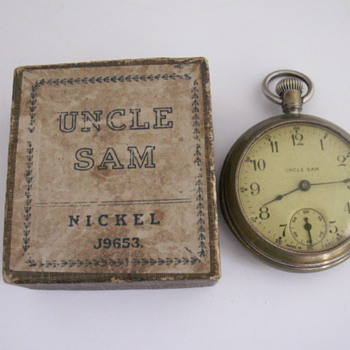 1923 Ingraham Uncle Sam Watch - Pocket Watches