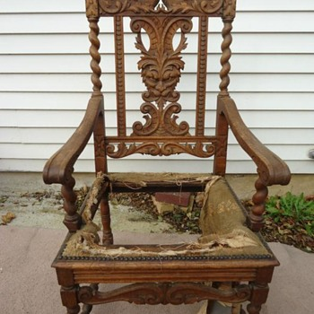 carved high back chair - Furniture