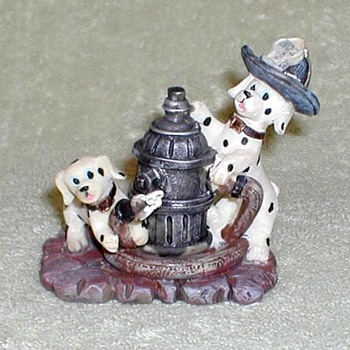Dalmatians and Fire Hydrant Figurine
