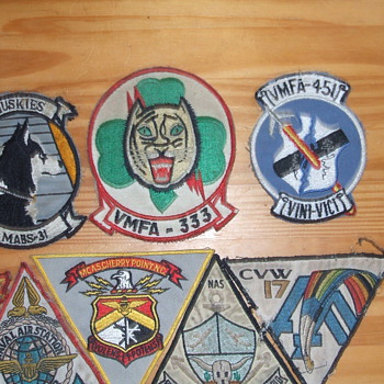 Vintage Marine and Navy Patches - Military and Wartime
