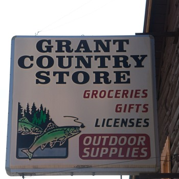 Vintage Country Store sign just before it was taken down - Signs