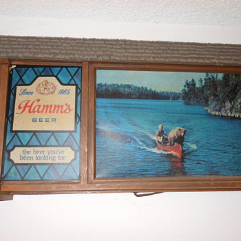 Hamms Beer sign  - Breweriana