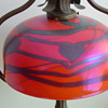 art glass heart and vine shade...
