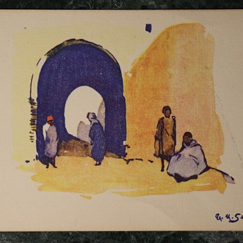 Really beautiful postcards from North Africa / Middle-East by Sandoz - Postcards