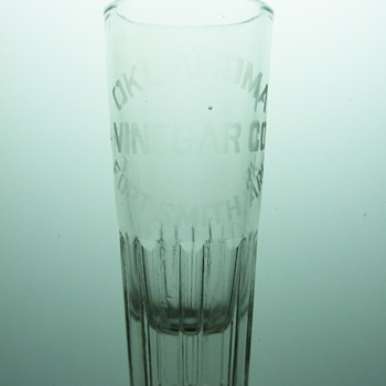 Oklahoma Vinegar Company Etched Glass