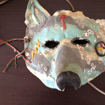 Native American style Wolf mask - Animals